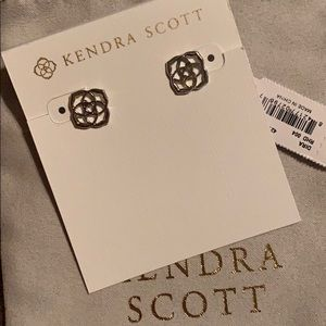 NWT Kendra Scott Dira studs in rhodium silver